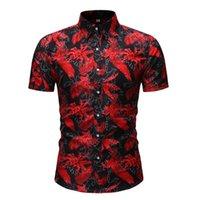 Vacaciones Casual Soporte Botón Botón Poja Camisa suelta Ropa Comfort Tops Com Men's Shirts
