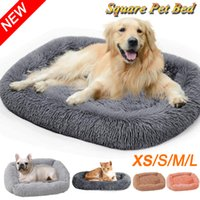 Dog Long Plush Beds Calming Bed Hondenmand Pet Kennel Mat Cushion Super Soft Fluffy Comfortable Sofa for Large Dog   Cat House