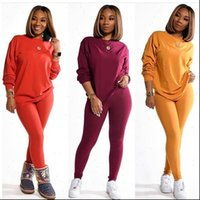 Two Piece Set 2 Womens Tracksuits Stacked Leggings Clothes Outfits Pants Tracksuit Female Fall