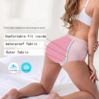 Women's Panties Large Size V-Waist Pure Cotton Physiological Pants Women Environmental Protection Menstrual Leakproof Briefs Period Wt51