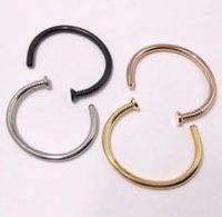 Screw Face men bangle Titanium Steel Bracelet Gold Silver Rose Gold Style DFF3598