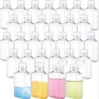 Bouteilles en plastique de 30 ml de 60 ml avec capuchon rabattable Conteaux de bouteille vides rechargeables pour le shampooing de sanitizérisation des mains