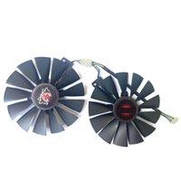 FDC10M12S9-C T129215SM GTX1070TI Fan del enfriador para Asus GTX 1070 TI Cerberus Advanced Gaming RX580 Tarjeta de video Fans de enfriamiento Refriolos
