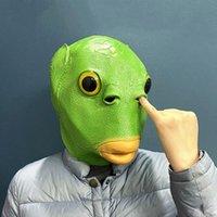 Party Masks Realistic Fish Mask Horse Halloween Head Latex Creepy Animal Costume Theater Prank Crazy Decor