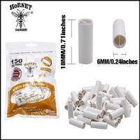 120pcs / box 6mm Carta da sigaretta Drip Suggerimenti Hornet Practice Pract Pracled Natural Natural Nolefined Sigarettes Filter Documenti di rotolamento