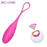 10 Velocità Wireless Telecomando Vibratore USB Ricaricabile Bollett'uovo Vibratore Vaginale Massaggio Vaginale Kegel Balls Sex Toys per donna 210326