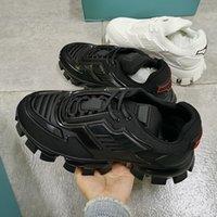 رجل cloudbust الرعد رياضة مصمم منصة الأحذية النساء متماسكة النسيج ضوء المطاط وحيد الأسود 3d المدربين عداء الأحذية حجم كبير مع مربع