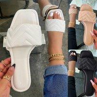 Slippers 2021 Summer Women Woven Flats Soft Bottom Heels Casual Slides Shoes Female Outdoor Beach Sandals Flip Flops