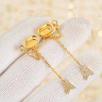 Pendientes de encanto de tassel de moda aretes orecchini para mujeres fiesta de boda regalo regalo joyería compromiso con caja HB318