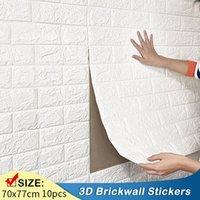 Wall Stickers 10pcs 70x77cm 3D Sticker Imitation Brick Bedroom Decoration Waterproof Self Adhesive Wallpaper For Living Room Home Decor
