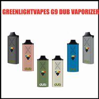 GreenLight Vapes G9 DUB Vaporizador para Herb Seco 1100mAh Bateria Vape Vape Pen com Tipo C USB Carregamento Feedback Haptic DHL GRÁTIS