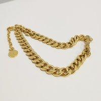 Nouveaux designer de luxe Bijoux Femmes Colliers Gold Collier de chaîne épais avec pendentif en acier inoxydable Bracelet Collier Set Chain de la mode