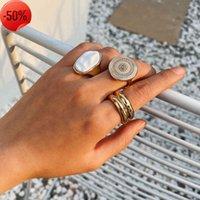 Ювелирные изделия Геометрическое круглое микроабилонское кольцо, простое кольцо из формы жемчуга