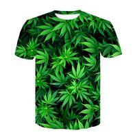 3D Impresas camisetas Casual Mans Camiseta Sudadera de manga corta Sudadera Tops 2019 Nueva moda Mujer Verde Mape Leafsoccer Jersey