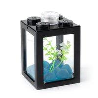 미니 수족관 아크릴 플라스틱 물고기 당나라 수족관 장식 액세서리 화려한 빛 홈 장식으로 Aquascape