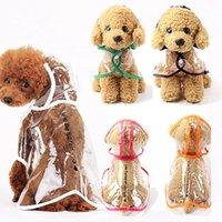 Pet Puppy Transparent Rainwear Raincoat Hooded Dog Apparel Waterproof Jacket Clothing Portable Rain Coats Foldable Light Clothes WLL464