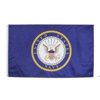 Direkte Fabrikgroßhandel 90 * 150 cm 3x5 fts Military Armee US Navy Symbol American Navy Flagge von stolzer DHD5729