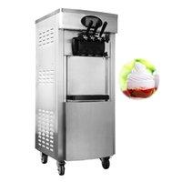 LCD Ekranlı Ticari Yumuşak Dondurma Makinesi Fiyatı Dikey Tek Tıklama Temizleme Paslanmaz Çelik Makine Yapımı