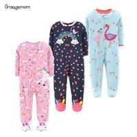 브랜드 Orangemom 공식 상점 아기 장난감 만화 점프 수트 코튼 태어난 소녀 옷 잠옷 아기 0-24M Jumpsuit 210907