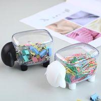 Storage Boxes & Bins 1pcs Cute Sheep Dust-proof Cosmetic Cotton Box Creative Plastic Swab Mini Household Desktop Organizer