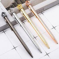 Ballpoint Pens Crystal Shiny Metal Crown Pen Interesting Ball School Stationery Office Supplies