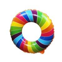 Цвета ловкий бассейн детское плавание кольцо радуги поплавок для детей надувные фламинго детские кружок поплавки трубы