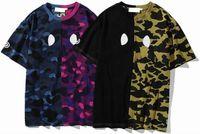 Hommes Femmes Designers T-shirts T-shirts Loose Tee Moyens Décontracté Chemise Couples Couples Multicolor Tees Street Street Manchon Vêtements Camouflage T-shirts M-3XL