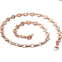 Fate Liebe Rose Gold 316L Edelstahl Kette Halskette Frauen / Männer Schmuck Mode 7mm / 9mm / 11mm Link Großhandel Ketten