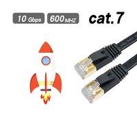 Ethernet Kablosu RJ45 CAT7 LAN Ağ Kablosu için CAT6 Uyumlu Yama Kablosu Modem yönlendirici kablo için