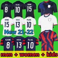 2021 2022 Футбол Футбол Джерси Mckennie 21 22 Morgan Rapinoe Lloyd Ertz Пресс Musah Dest Reyna Amerian Мужчины Женские + Детские футболки Соединенные Штаты Спортивная одежда