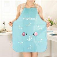 Kitchen pvc Korean style cute cartoon princess apron Kitchen oil and waterproof half-length apron cartoon adult apron