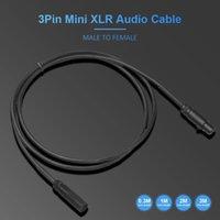 Cavi audio Connettori 3pin Mini XLR maschio a femmina via cavo SA105 per telecamere Apparecchiature professionali Pografia Interfaccia microfono Connecti