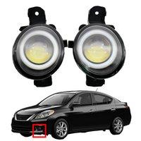 LED DRL Styling Lente Anjo Acessórios Do Carro Acessórios Faróis de Nevoeiro Alta Qualidade para Nissan Versa 2012-2019