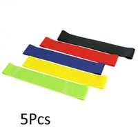 5pcs / lot Fitness Yoga Widerstand Gummibänder Fitness-Gym-Trainings-Trainingsgeräte 0.35-1.1mm Pilates Elastische Bands für den Spritze