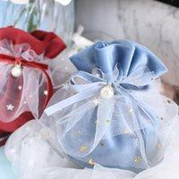 Sacos de presente de flanela com cordão para casamento embalagem favorável festa de bebê presentes presentes convidados de algodão saco wrap