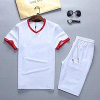 Verão Mens Designer Tracksuits 2021 Fashion Beach Seaside Holiday 2 Estilos Camisetas Calções Conjuntos Hip Hop Sweamp Tamanho M-3XL