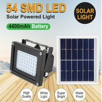 Solar Flood Lights Outdoor Sensor Wall Lamp Floodlights Led 54 LEDs IP65 Waterproof Landscape Lighting for Garden Home