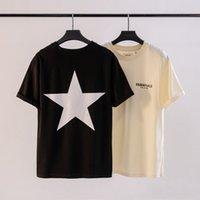 Frühlings- und Sommer-New Ewtalst-T-Shirt Doppel-Linie High Street Fünf spitzer Sternmänner und Damen Kurzarm Essentialst T