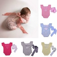 Newborn Baby photography prop bows lace rompers Christmas Girl Romper without headband Photo Outfits onesies one-piece jumpsuits Triangle ha clothes
