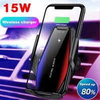 Qi Wireless Car Charger Automatic 15W Fast Charging Holder for iPhone 12 11 XR XS 8 Samsung S20 S10 Infrared Sensor Phone Mount