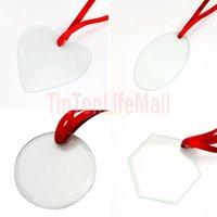 Sublimation Blanks Glass Pendant Christmas Ornaments 3.5inch Single Side Thermal Transfer Ornament Festival Decore Customized Diy Pendants 50pcs FREE DHL HH21-509