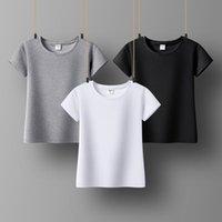 Base Leven femmes T-shirt coton à manches courtes Col O-col solide Color Office Lady Top All Match Basic Femme's