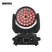 SHEHDS LED Yıkama Yakınlaştırma Hareketli Kafa Işık 36x12W / 18W RGBW / + UV Dokunmatik Ekran DMX Sahne Professiona / KTV Etkisi için Uygun