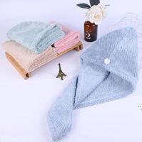 Piña Plaid Caps de pelo seco Toalla Microfibra Rapido Secado Ducha Pelos Hats Turban Wrap Hat Spa Baño de baño Dwe5482