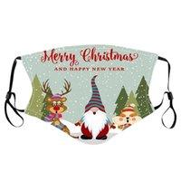 Frohe Weihnachten Gesichtsmaske Kinder Weihnachtsmann Geschenk Schneeflocke Kind Druck Cartoon Designer Gesichtsmaske Staubdicht PM2.5 Erwachsene Gesichtsmaske DHE8725