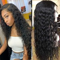Lace Wigs Wet And Wavy Front Wig Pre Plucked Water Wave Brazilian Remy Hair Frontal With Baby 13x4