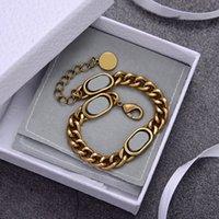 Nuevos productos Pulsera Collar Conjunto Collar de Moda Joyería Unisex Material de latón Alta Calidad Material Collar Chapado en oro
