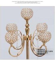 Crystal Bread Chandelier Flower Stand Pulsular Wedding Weddways / Table Centerpiece Decorazione del partito
