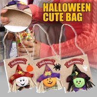 Storage Bags Witch Ghost Pumpkin Gift Bag Kids Halloween Party Cartoon Candy With Handle Favors Boxes Event Wrapping Supplies