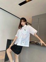 20ss Hot Seller Mujer Blusa Street Casual Camisa larga Material importado Material cómodo de gran tamaño de manga larga Costura de la etiqueta de la etiqueta